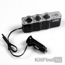 Разветвитель прикуривателя x3 + USB